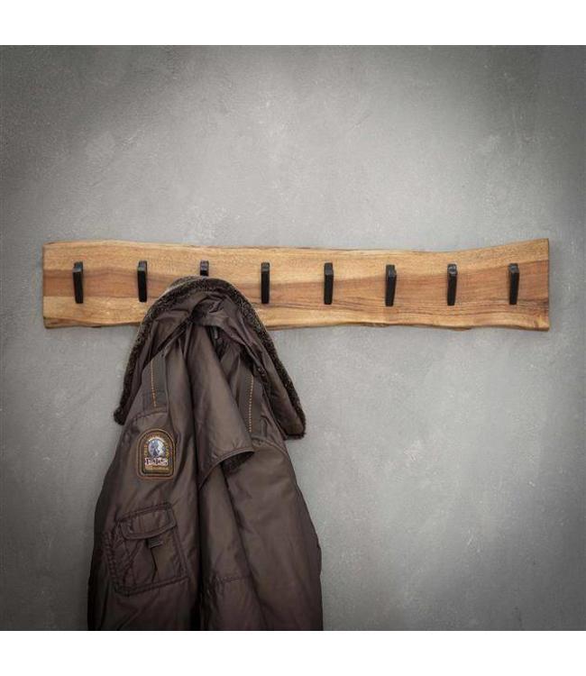 Kapstok massief hout 8 haken horizontaal