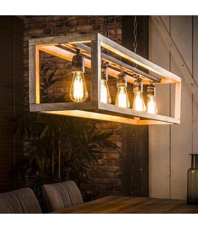 Industriële Hanglamp Lucas Wood