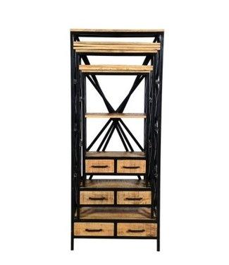 Industriële kast Morgan 80x195 cm