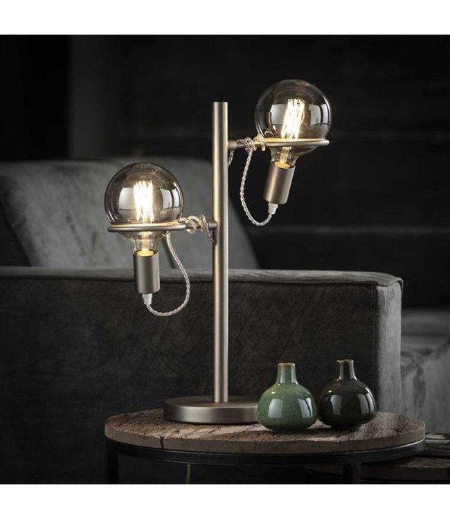 Industriële tafellamp Romy 2-lichts