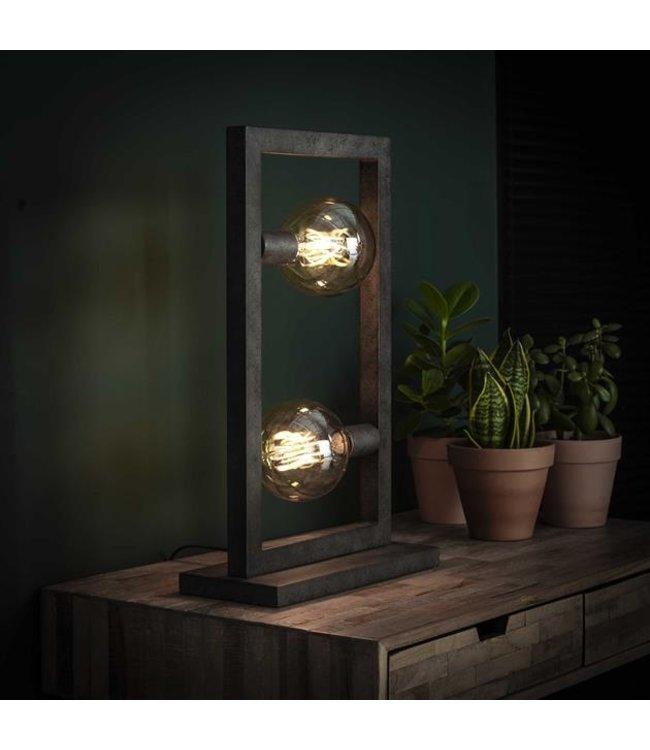 Industriële tafellamp Steph  2-lichts