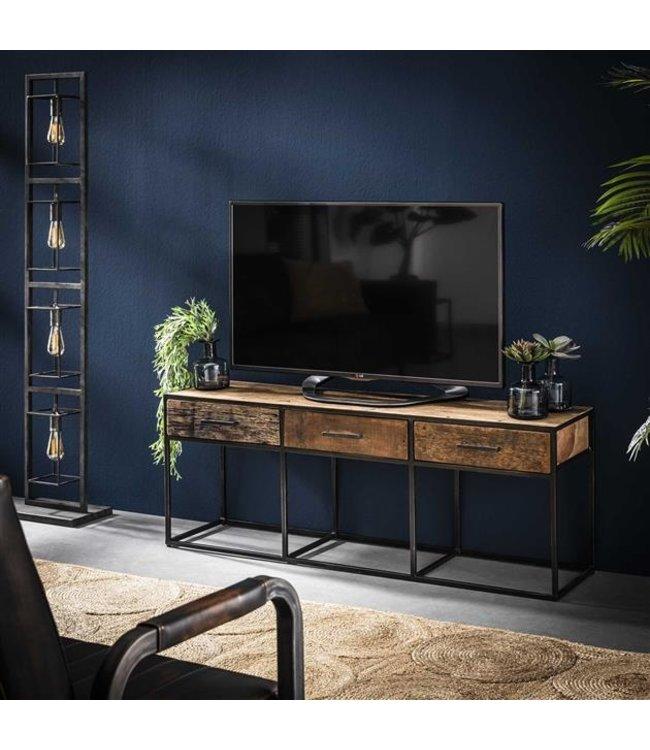 Tv Lift Meubel Prijs.Industrieel Houten Tv Meubel Liam 3 Lades Laagste Prijs Garantie
