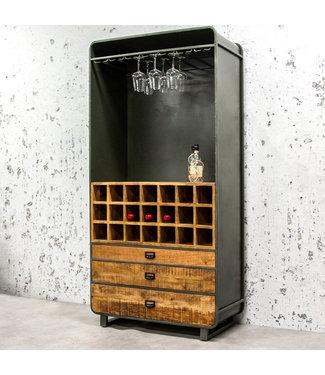 Dimehouse Industriële wijnkast Yecla 200x100