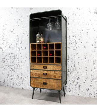 Industriële wijnkast Yecla 180x70 cm