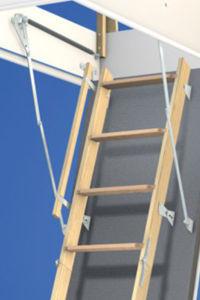 Wellhöfer Bodentreppe StahlBlau (Maßanfertigung)