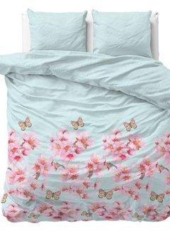 Sleeptime Vlinders - Flanel - Lichtblauw