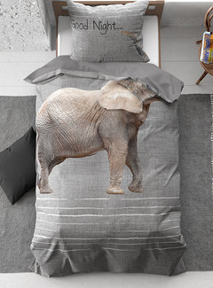 Dreamhouse Bedding Goodnight Elephant - Grijs