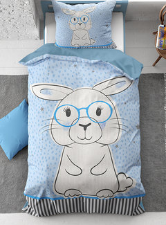 Dreamhouse Bedding Rabbit Blue - Blauw