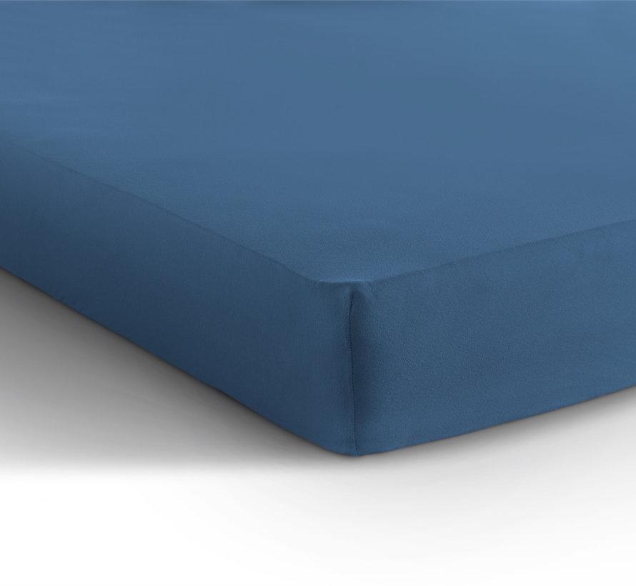 Hoeslaken Dubbel Jersey - Extra Hoog - Blauw