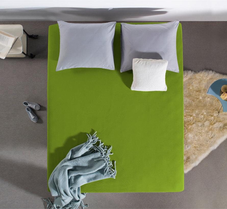 Hoeslaken Dubbel Jersey - Extra Hoog - Groen