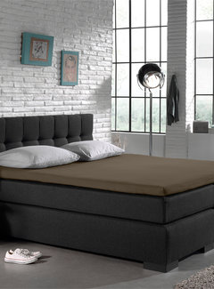 Home Care Splittopper Hoeslaken Jersey - Taupe