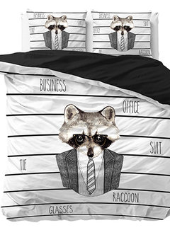 Dreamhouse Bedding Business Raccoon - Wit