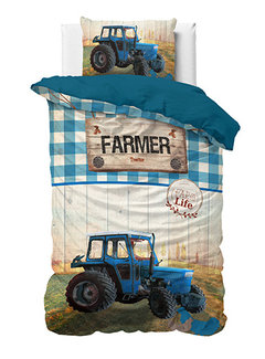 Dreamhouse Bedding Tractor Life - Blauw
