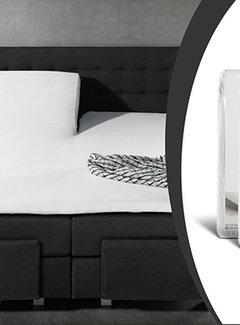 Sleeptime 2-Pack: Splittopper Hoeslaken Jersey - Wit