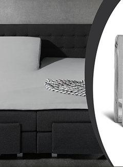 Sleeptime 2-Pack: Splittopper Hoeslaken Jersey - Grijs