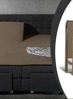 Sleeptime 2-Pack: Splittopper Hoeslaken Jersey - Taupe