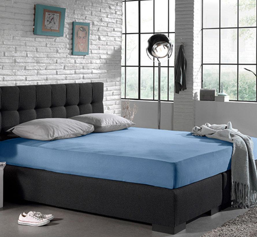 4-PACK: Hoeslaken - Blended Katoen - Blauw