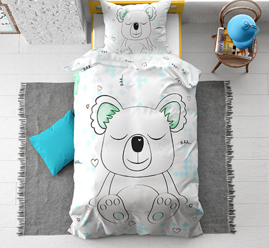 Sleepy Koala - Wit