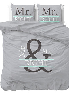 Dreamhouse Bedding Mr and Mrs Right 2 - Grijs