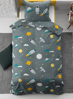 Dreamhouse Bedding Moon and Space - Groen