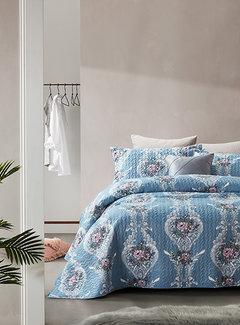 Dreamhouse Bedding Bedsprei - Retro Flower - Blauw