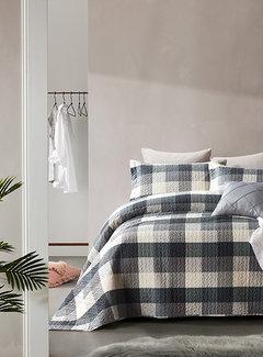Dreamhouse Bedding Bedsprei - Luxury Check - Grijs