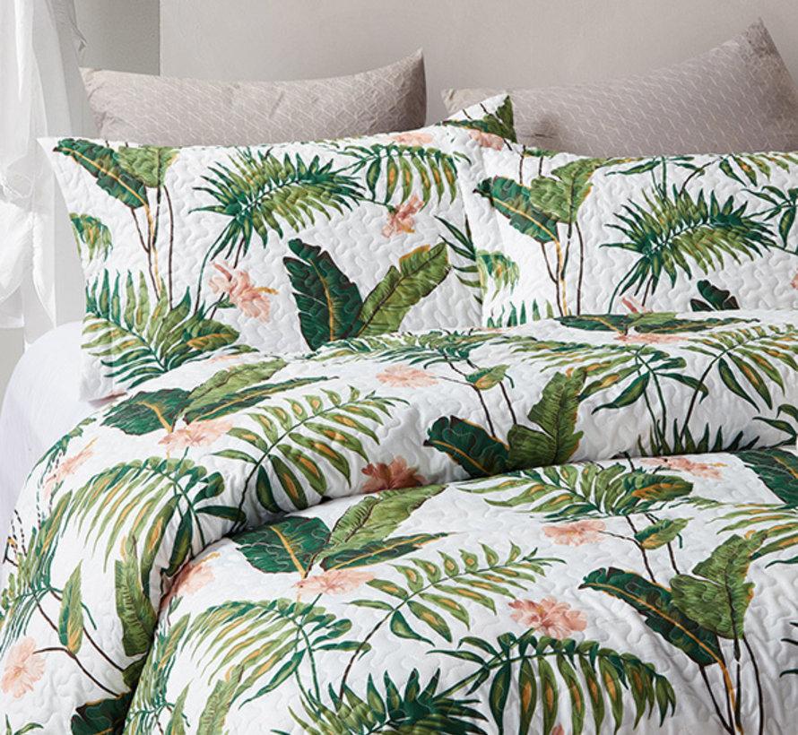 Bedsprei - Botanical - Wit