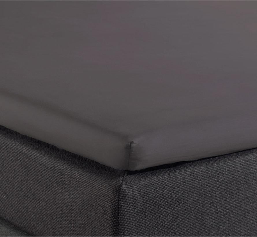 Splittopper Hoeslaken Katoen - Antraciet