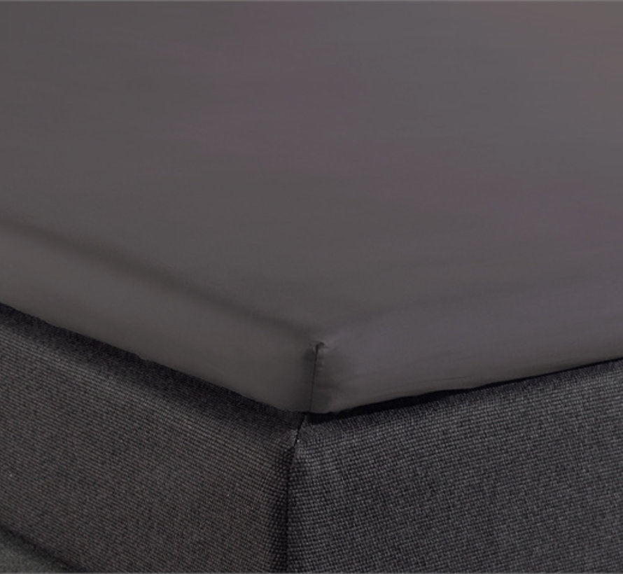 Splittopper Hoeslaken Katoen - Verkoelend - Antraciet