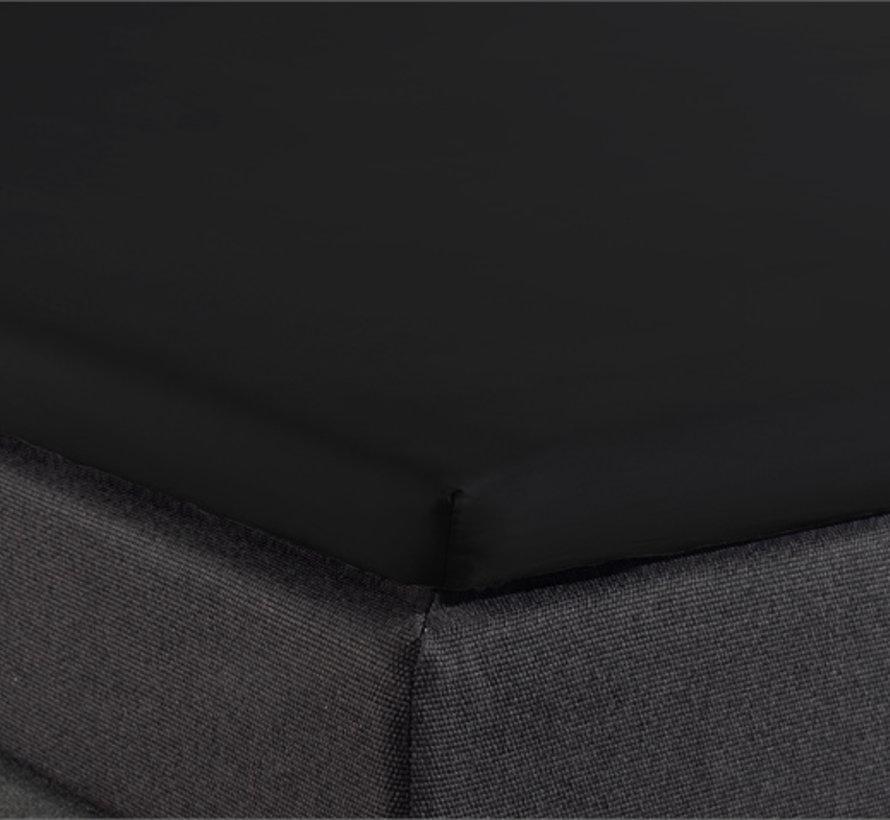 Splittopper Hoeslaken Katoen - Verkoelend - Zwart