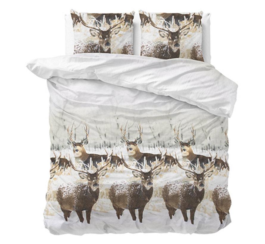 Winter Deer - Flanel - Grijs