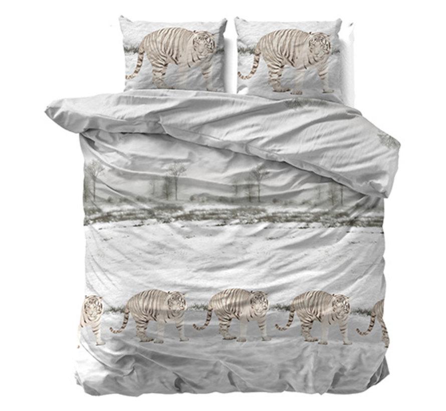 Winter Tiger - Flanel - Wit