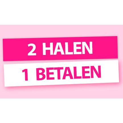 2 HALEN = 1 BETALEN: Alle combinaties in deze categorie zijn mogelijk, het goedkoopste artikel is automatisch GRATIS! Profiteer nu, want OP=OP.