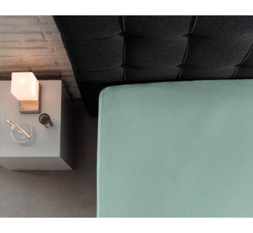 Hoeslaken Dubbel Jersey - Extra Hoog - Pastelblauw