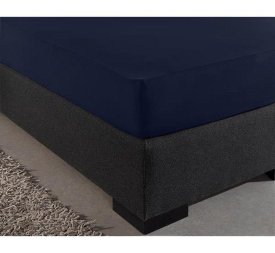 Hoeslaken Jersey 135gr Stretch - Indigo Blauw