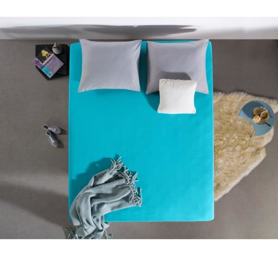 Hoeslaken Jersey 135gr Stretch - Turquoise