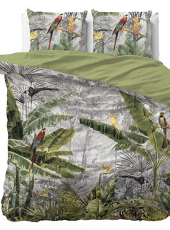 Dreamhouse Bedding Jungle by Night - Grijs/Groen
