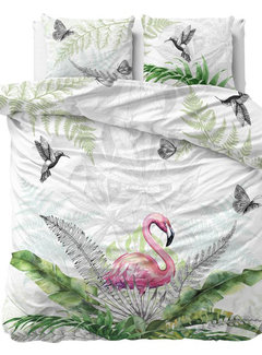 Dreamhouse Bedding Flamingo Splash - Wit/Grijs