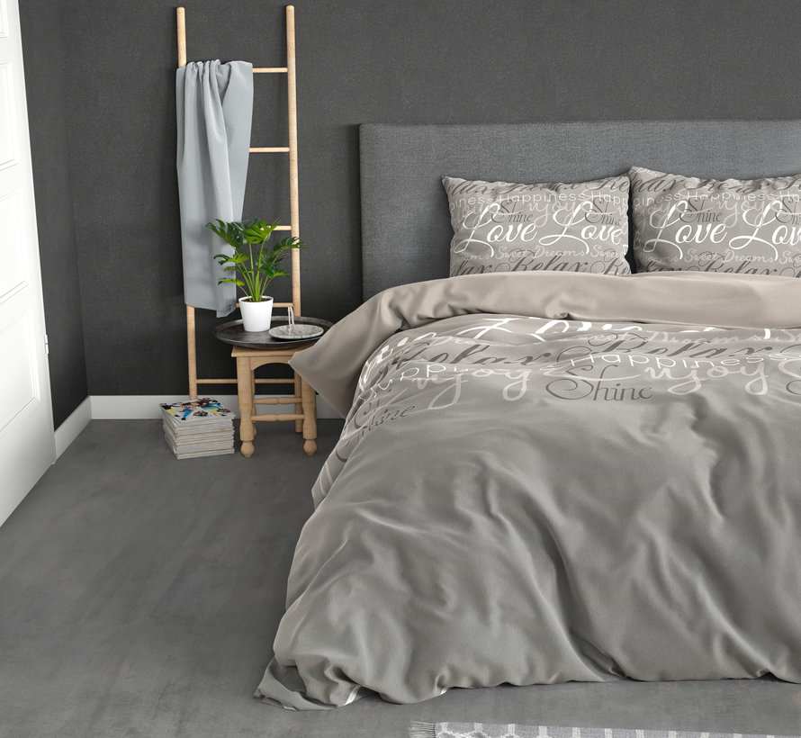 Love and Relax - Flanel - Taupe
