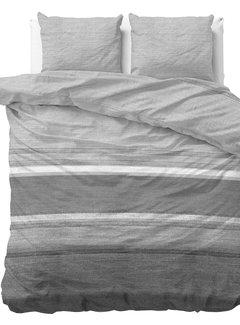 Sleeptime Stone Stripe - Flanel - Grijs
