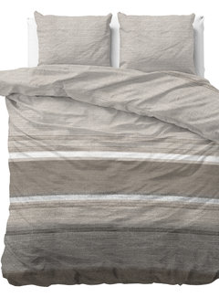 Sleeptime Stone Stripe - Flanel - Taupe