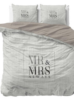 Dreamhouse Bedding Mr and Mrs Elegant - Wit/Grijs