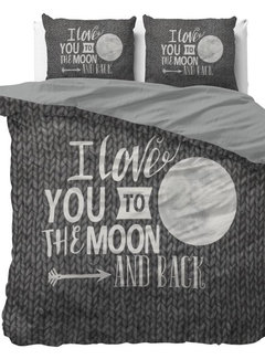 Dreamhouse Bedding Moon and Back - Antraciet