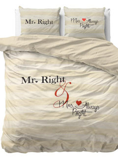 Dreamhouse Bedding Mr and Mrs Always - Creme