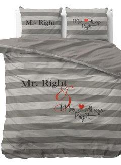 Dreamhouse Bedding Mr and Mrs Always - Grijs