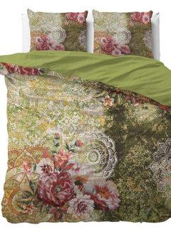 Dreamhouse Bedding Green Flower Art - Groen