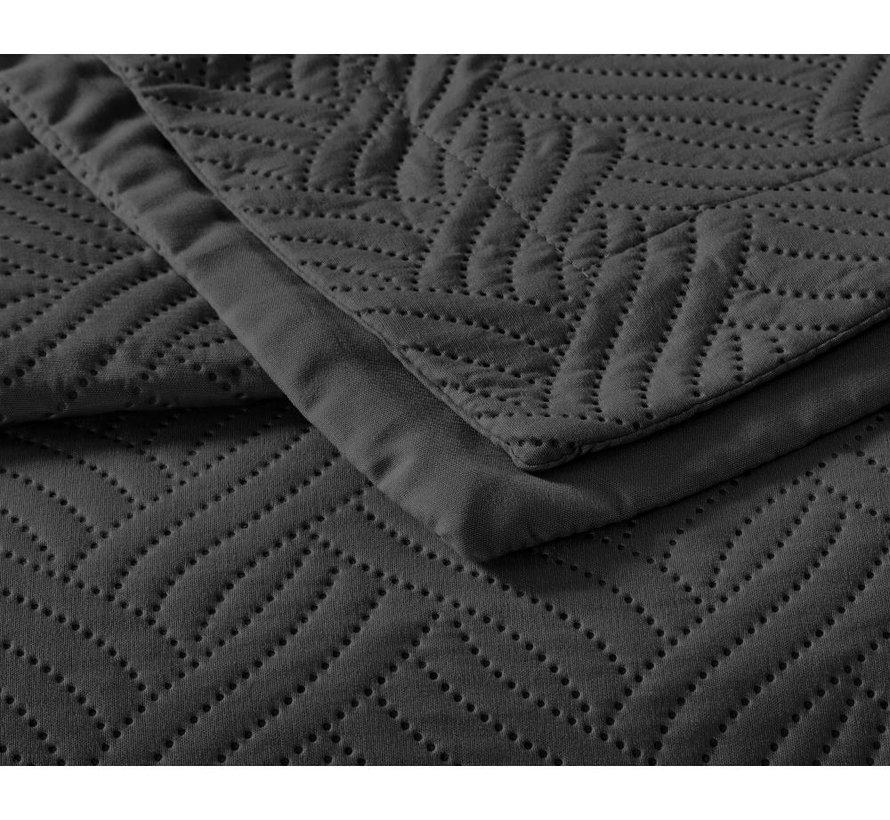 Bedsprei - Wave - Zwart