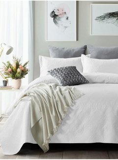 Sleeptime Bedsprei - Art - Wit