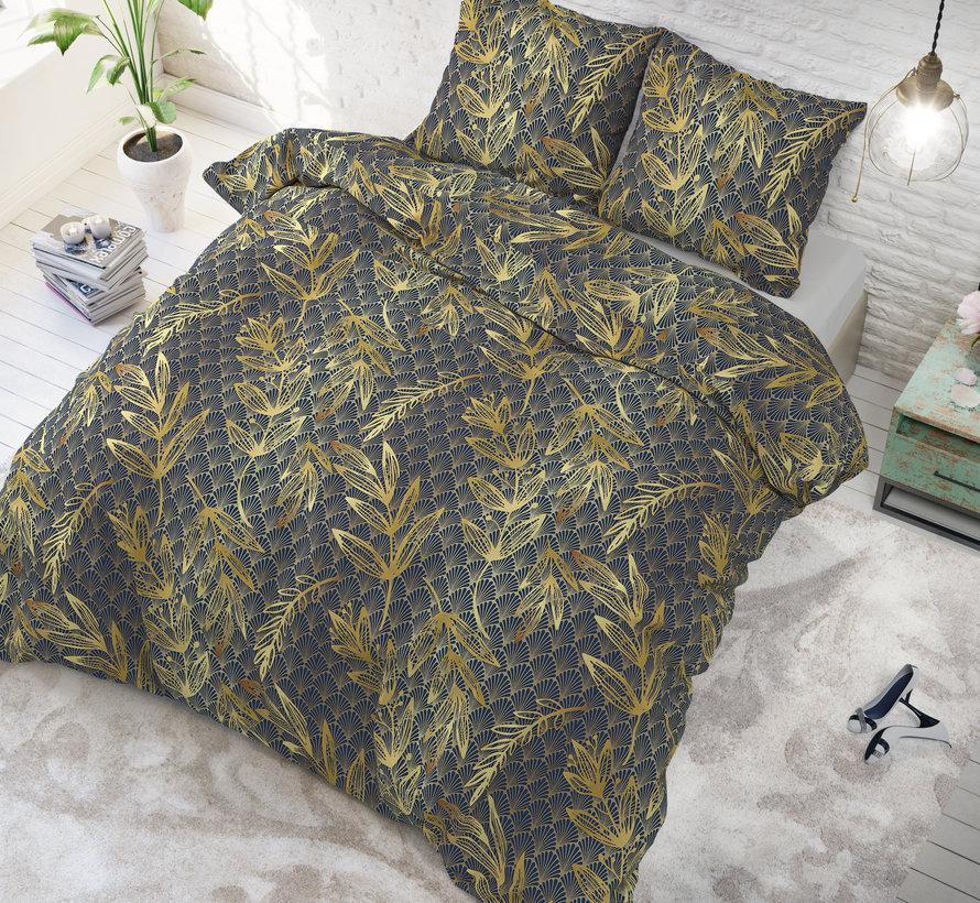 Luxury Leaf - Donkerblauw/Zwart