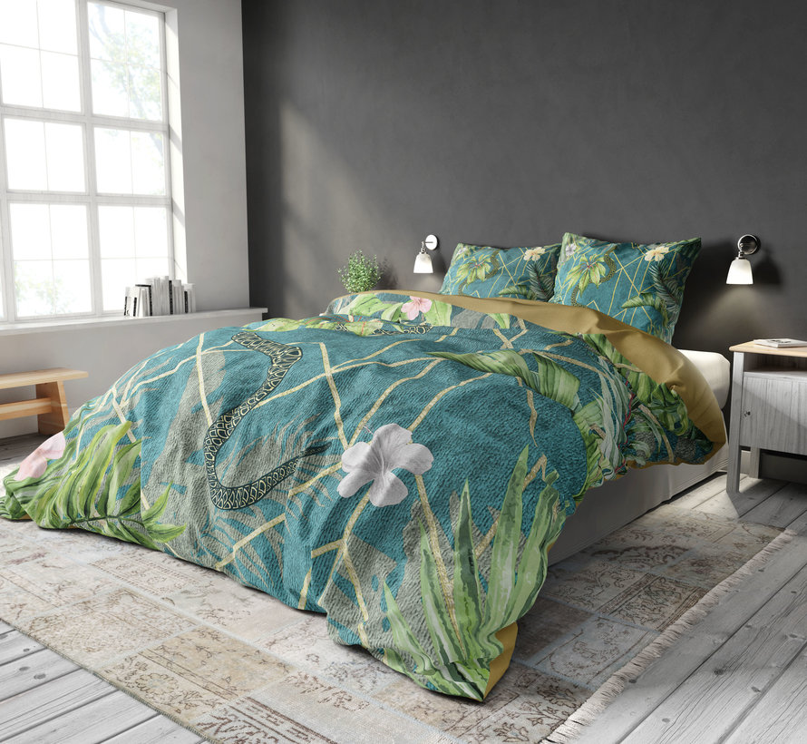 Palm Wood - Blauw/Groen